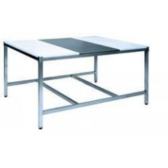 TABLE MIXTE POLY/INOX/POLY