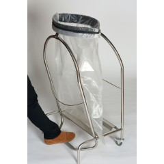 SUPPORT SAC POUBELLE INOX HERMETIQUE A PINCE